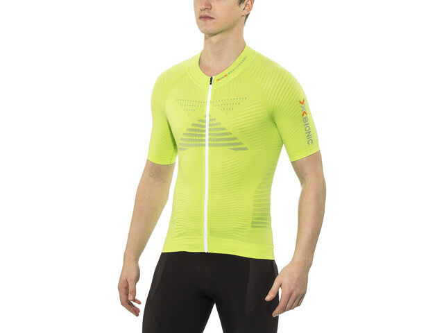 X-Bionic Effektor Power Biking Jersey SS Full-Zip Men, green lime/pearl grey